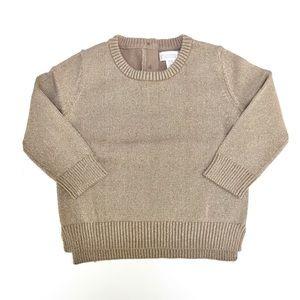 Gymboree Metallic Gold Sweater
